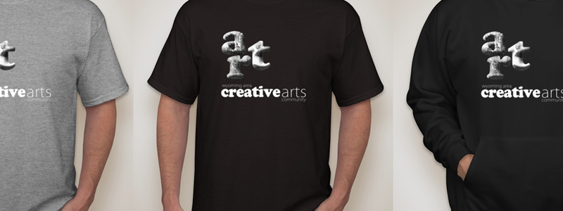 Help remodel the Hallberg Center for the Arts with a t-shirt or sweatshirt.