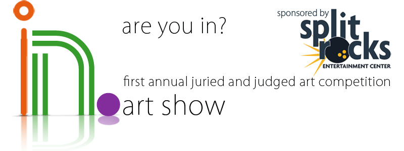 """The first annual """"In.""""  A juried art show.  Details coming July 15, 2016."""